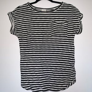 A New Day Striped Pocket Tee